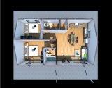 Villa prefabbricata domestica prefabbricata della struttura d'acciaio dell'indicatore luminoso di basso costo