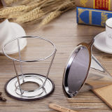 Design mais recente 18/8 Stainless Steel Pour Over Cone Coffee Dripper 4 Cup Size