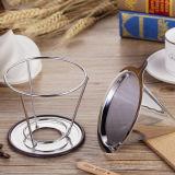 最新のデザイン18/8ステンレス鋼は円錐形のコーヒーDripperに4個のコップのサイズを注ぐ
