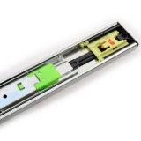 Pousser pour ouvrir les glissières télescopiques de turbine de tiroir pour des Tableaux
