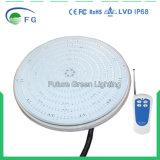 RGB 먼 통제되는 42W 2year 보장을%s 가진 수지에 의하여 채워지는 LED 수중 수영풀 램프