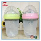 Bottiglia di alimentazione ultra larga del bambino del silicone del collo 220ml