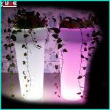 Maceta jardín iluminado LED se encienden las sembradoras de exterior