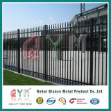 Stahl geschweißter dekorativer Pfosten-Zaun/Stangen-oberster bearbeitetes Eisenornamental-Zaun