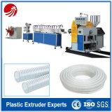 Máquina de extrusión de manguera reforzada de alambre de acero ondulado PVC espiral