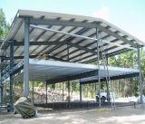 En tercer lugar la estructura de acero de almacenes y plantas