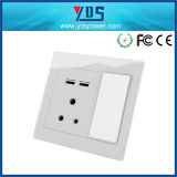 Zuidafrikaanse USB Wall Socket met de Havens Socket van Double USB