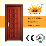 最上質の純木のドアのベニヤの絵画ドア(SC-W092)