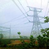Torretta d'acciaio di energia di 500 chilovolt di angolo d'angolo del trasporto (doppi circuiti)