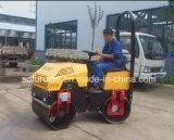 Doppeltes Trommel-Mini1 Tonnen-Verdichtungsgerät-Vibrationsrolle mit berühmtem Dieselmotor (FYL-880)