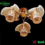 黄色いカラーガラス花型の据え付け品の吊り下げ式の照明(X-9234/3)