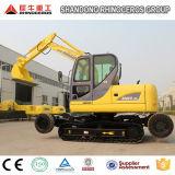 Máquina escavadora X8 da esteira rolante da roda do melhor vendedor 8t para a venda com motor de Yanmar