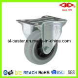125mm Grey Rubber Industrial Castor (D102-32D125X37.5)