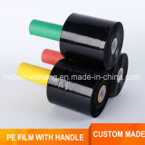 Mini Black PE Building Stretch Wrap Film with Handle