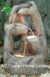 Вид из дерева в саду Polyresin Фонтаном W/светодиодный индикатор