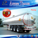 40000リットルの半アルミ合金の燃料または水またはワインのタンカーのトレーラー