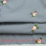 Ricamare il tessuto tinto filato per la tenda del pannello esterno della camicia di vestito