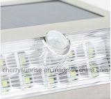 Lámpara impermeable del jardín de la nueva 9LED de la energía solar PIR de movimiento del sensor luz de la pared al aire libre