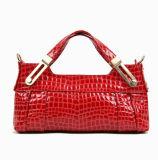 Bolsas vermelhas da mulher do teste padrão da pedra do couro genuíno (VKLG180)