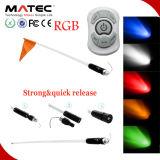LED de liberação rápida Arieal LED Fiber Pole Flag Light 6 cores disponíveis Fibra óptica com controle remoto