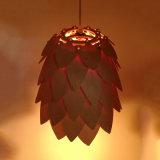 lampada Pendant di legno di vendita del a&L del pino della tonalità calda del cono