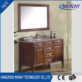 Governo di legno di vanità della stanza da bagno del pavimento, mobilia di lusso del bagno dell'hotel