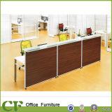 方法オフィス用家具のレセプション表のゆとりのガラス現代フロント