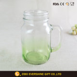 600ml manejar Mason Jar con degradado de color