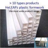 Travail plus rapidement, économie de coûts, poids léger, réutilisable, escalier, Flexbile et coffrage en plastique raide