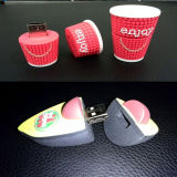 Borracha PVC personalizado USB Flash Drive USB personalizados (GC-P012)