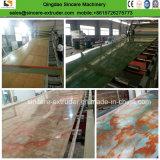 Feuille de plastique PVC marbre artificiel de l'extrudeuse de feuille de marbre artificiel de ligne de production