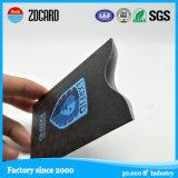 Titular de la manga de tarjeta a prueba de agua con papel de aluminio