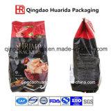 Sacchetto inferiore quadrato di imballaggio di plastica della chiusura lampo per tè con stampa