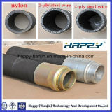 Tuyau à haute pression en caoutchouc de pompe concrète de Reinforenced de fil d'acier