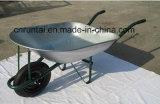 Carriola pneumatica durevole delle rotelle di vendita calda doppia (Wb7201)