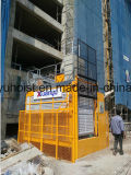Одиночные материал клетки /Twin большие и строительный подъемник пассажира