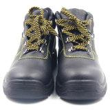 Zapatos de seguridad de acero de cuero industriales de la punta de la inyección barata de la PU