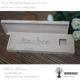 Rectángulo de regalo de madera del almacenaje de la venta de Hongdao de la correa caliente del lazo para Packaging_D