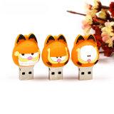 Vara personalizada movimentação do USB dos desenhos animados do flash do USB do PVC do gato