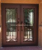 緩和されたガラスおよびスクリーンが付いている鋼鉄ドア