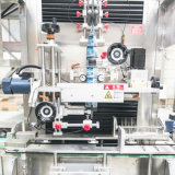 가득 차있는 자동적인 플라스틱 둥근 물병 라벨 붙이는 사람 기계