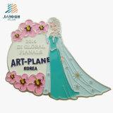 Pin de encargo de la flor del nuevo del diseño esmalte de la venta al por mayor para la decoración de la boda