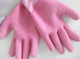 Baumwollsicherheitskreis-Shell-Latex3/4 beschichteter Knit-Handgelenk-Sicherheits-Arbeits-Handschuh (L1803)