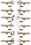 De regelbare Verlengbare Pijp van het Gordijn van Pool van de Steun van het Gordijn van de Toebehoren van het Gordijn van de Staaf van het Gordijn van het Venster van het Ijzer van het Chroom Vervaardigde