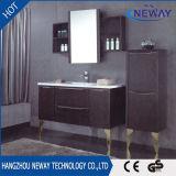 Pavimento che si leva in piedi vanità della stanza da bagno del PVC con il doppio bacino
