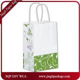 Noël blanc Eco de clients métalliques d'élégance a réutilisé des sacs de cadeau de Papier d'emballage avec le traitement Twisted