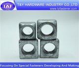Noix carrée galvanisée jaune de l'acier du carbone DIN557