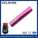 ピンクの香水の保護装置は小型3.5百万のボルトの再充電可能な懐中電燈スタン銃を