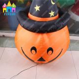 2016 Hot-Sell Halloween fête gonflable décoratif lampe de citrouille lampe de poche LED