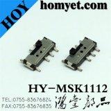 4-контактный Вертикальный тип SMD ползунковый переключатель трехпозиционный тумблер (MSK-1112)